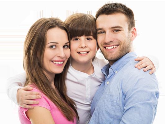 Een blij gezin